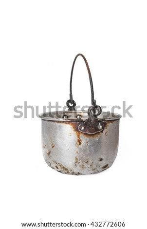 old pot cooker bowl. - stock photo