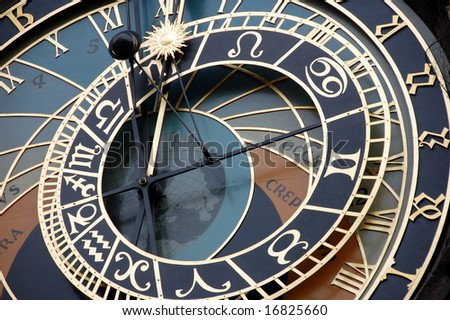 Old Prague astronomical clock.