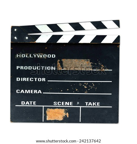Old production clapper board