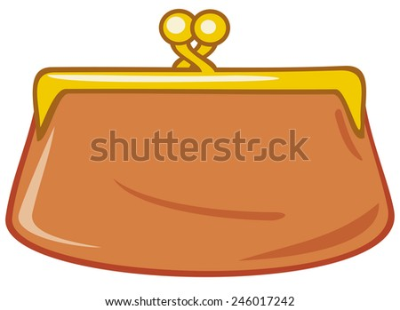 old purse (coin purse) - stock photo