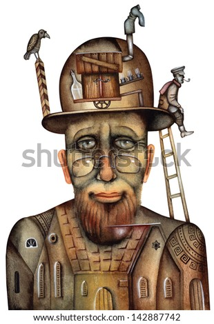 Old rabbi - stock photo