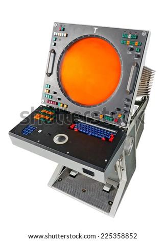Old radar screen - stock photo