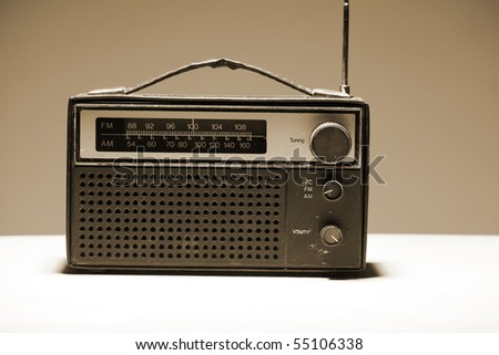 old radio set - stock photo