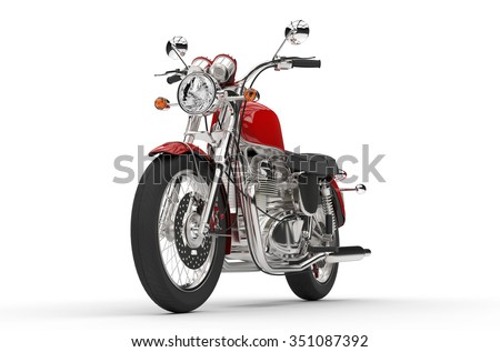 Old Red Bike - stock photo