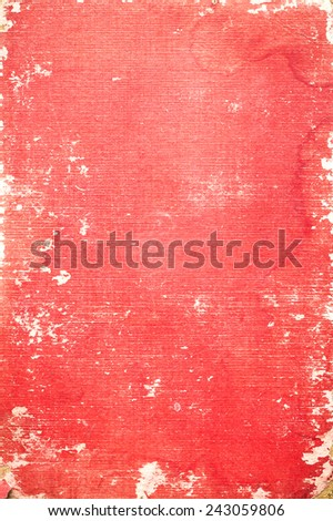 Old red book cover. - stock photo