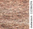 old red brick wall texture background - stock vector