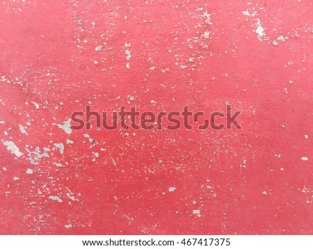Old Red Paint Concrete Scratch Wall Texture Background