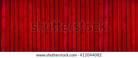 Old  red painted wooden wall - texture or background - stock photo