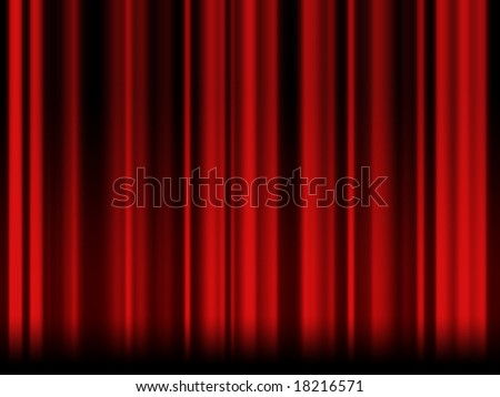 Old red theatre curtain