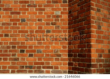 old red wall - stock photo