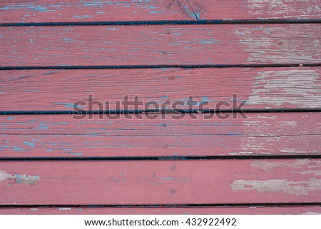 old red wood - stock photo