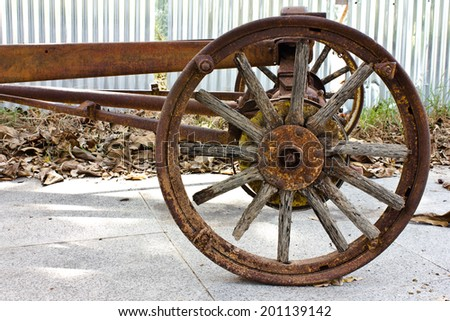 Old remains of the rust car structure - stock photo