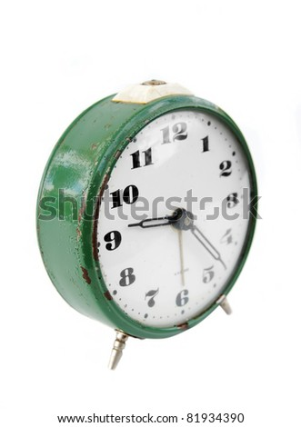 Old retro alarm clock