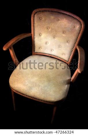 Old retro armchair - stock photo