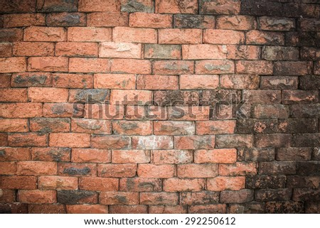 old retro brick background