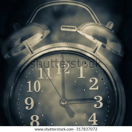 old retro clock concept Insomnia - stock photo