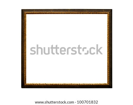Old  retro picture frame (No#21) isolated on white background  (detailed clipping paths included) - stock photo