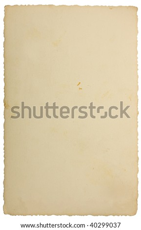 Old Retro Vintage Photograph Background Texture, isolated instant film transfer edge photo paper card reversed - stock photo