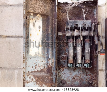 old retro vintage style rustic abandoned stock photo edit now rh shutterstock com Old Electrical Fuse Panels Fuse Box vs Breaker Box