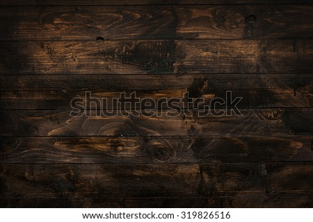 Old rich wood grain texture background with knots. - stock photo