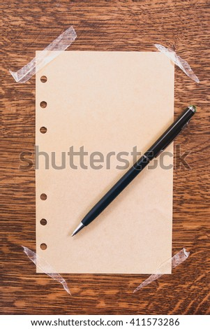 old ripped paper - stock photo