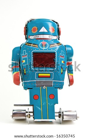 old robot toy - stock photo