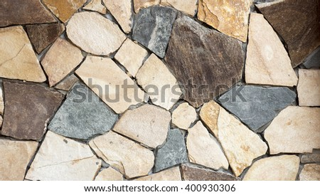 Old Rock Wall Texture - stock photo