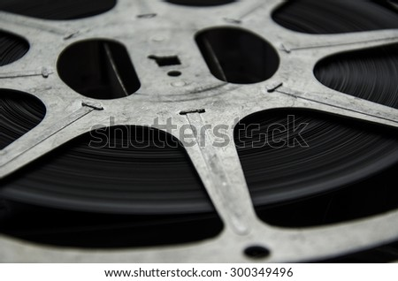 old roll movie - stock photo