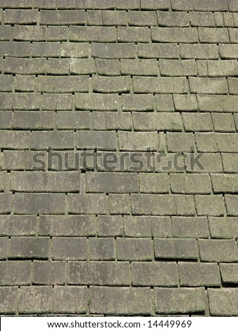 Old roof tiles II - stock photo
