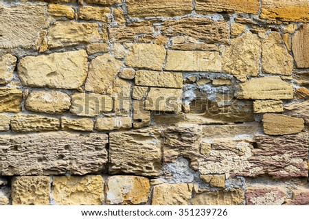 old rough brick horizontal wall
