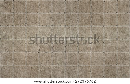 Old rough concterte tiles seamless pattern - stock photo