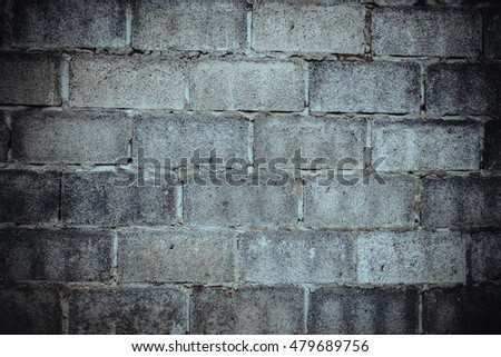 Old rough house wall square pattern texture cement background abstract.