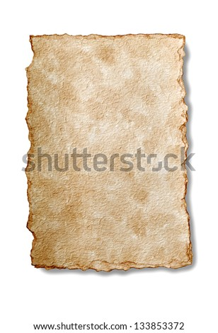 old rough paper isolated