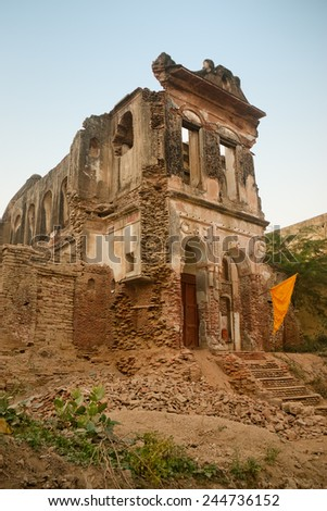 Old rubbish religious building in Bithoor, kanpur , Uttar pradesh india