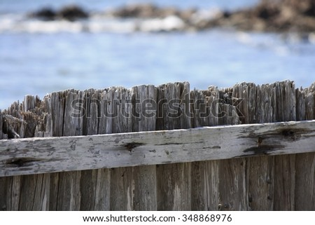 Old rugged fence