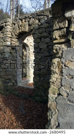 Old ruins of a building - stock photo
