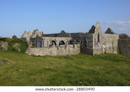 old ruins of a castle - stock photo