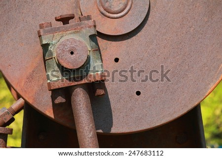 Old rust bolt nut, Old rust steel, Old rust, Rust  - stock photo