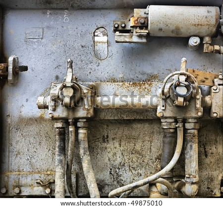 Old rusted machine