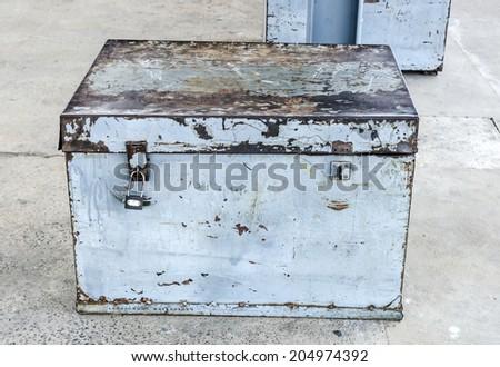 Old rusty box - stock photo