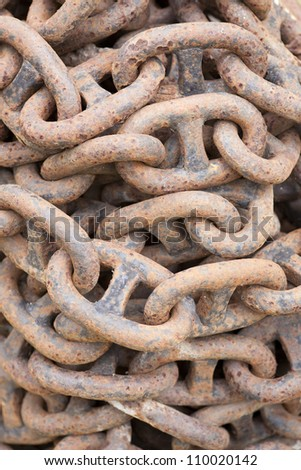 Old rusty chain texture
