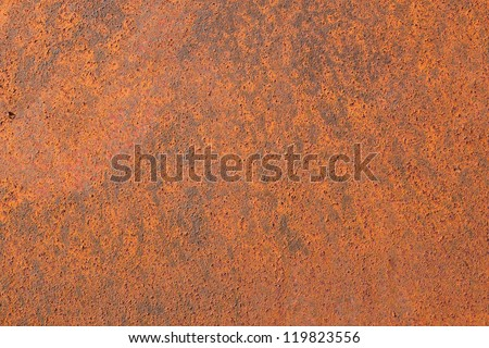 Old rusty iron metal background plate texture - stock photo