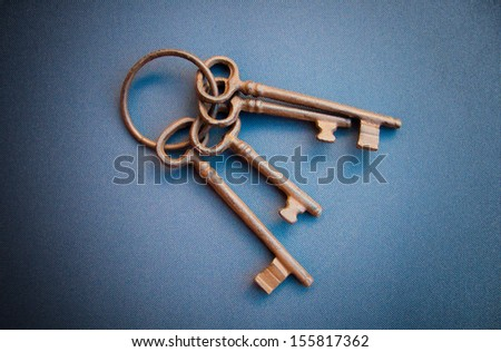 Old rusty keys - stock photo