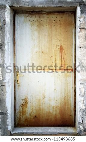 Rusty Metal Door old rusty metal door croatia stock photo 113493685 - shutterstock