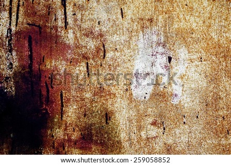old rusty metal worn and scratched with old paint - stock photo