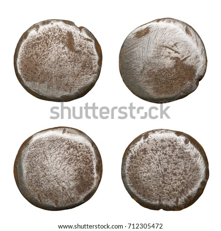 Old Rusty Nail Heads Isolated On White