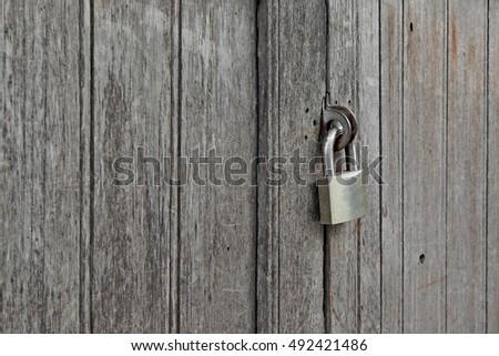 old rusty padlocked on vintage wooden door & Old Rusted Lock On Door Stock Photo 237432229 - Shutterstock Pezcame.Com