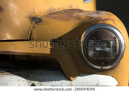 Old Rusty Pickup Truck - stock photo