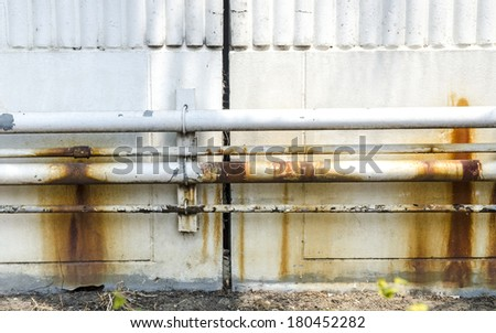 Old rusty pipes  - stock photo