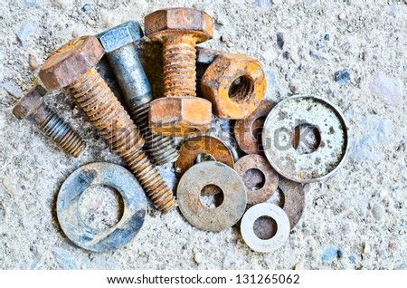 old rusty Screw - stock photo